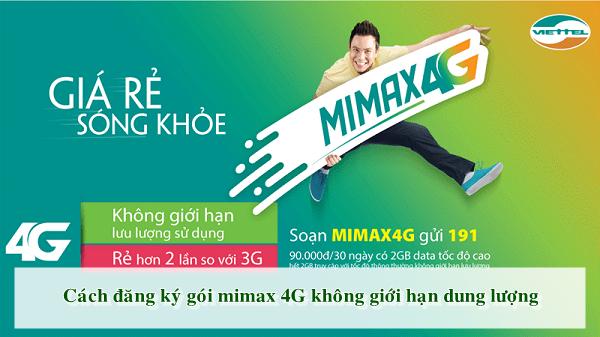 Cách đăng ký gói MiMax 4G không giới hạn dung lượng